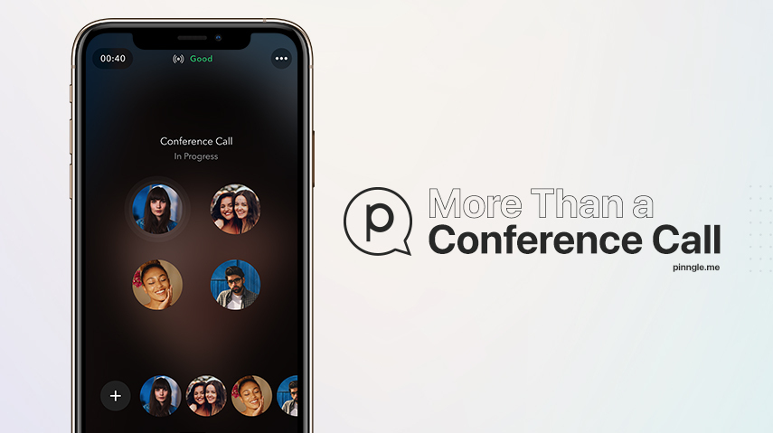 Pinngle voice conference calls